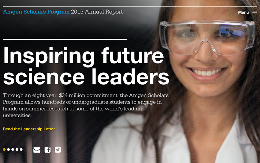 Now Available: Amgen Scholars Program 2013 Annual Report